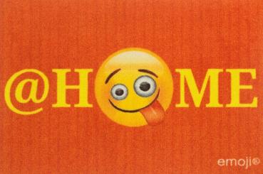 Emoji - @Home - Fußmatte