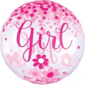 Konfetti Ballon - Baby Girl XL