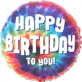 Folienballon - Tie Dye Birthday