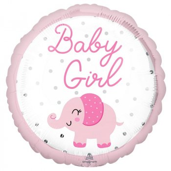 Folienballon - Baby Girl Elephant
