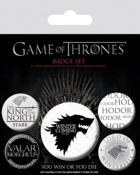 Game of thrones Winter is coming Buttons