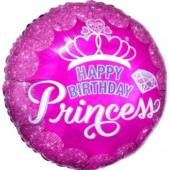 Folienballon Happy Birthday Princess