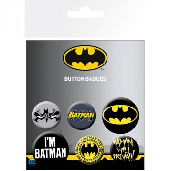 Batman - Logos - Button 6er Set