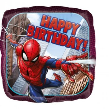 Folienballon Happy Birthday Marvel Spiderman