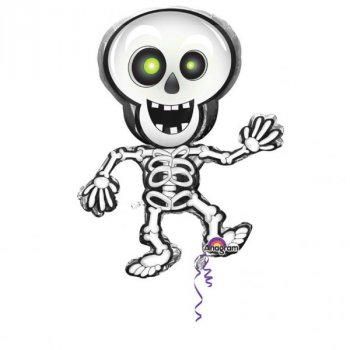 Folienballon Dancing Skeleton Skelett