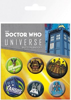 Doctor Who - Alien Adventures - Button 6er Set