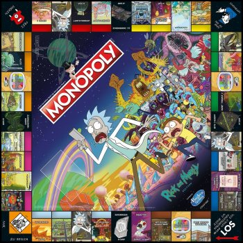 Monopoly Rick and Morty Spielbrett