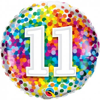 Folienballon - Rainbow Confetti Birthday 11