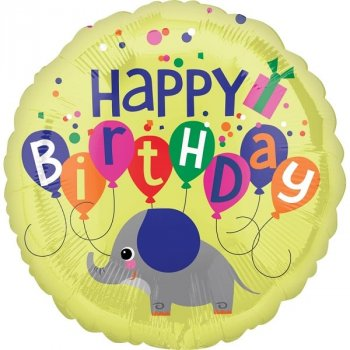 Folienballon Elephant Birthday