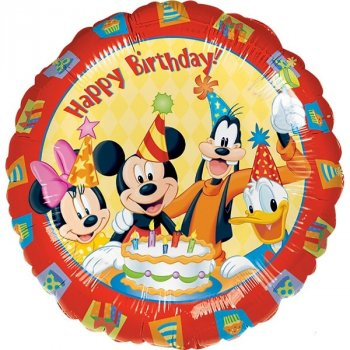 Folienballon - Mickey & Friends Happy Birthday