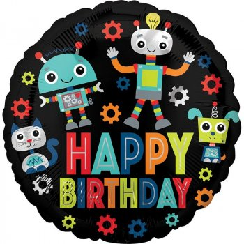 Folienballon - Birthday Robots