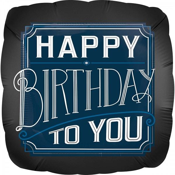 Folienballon Happy Birthday Man