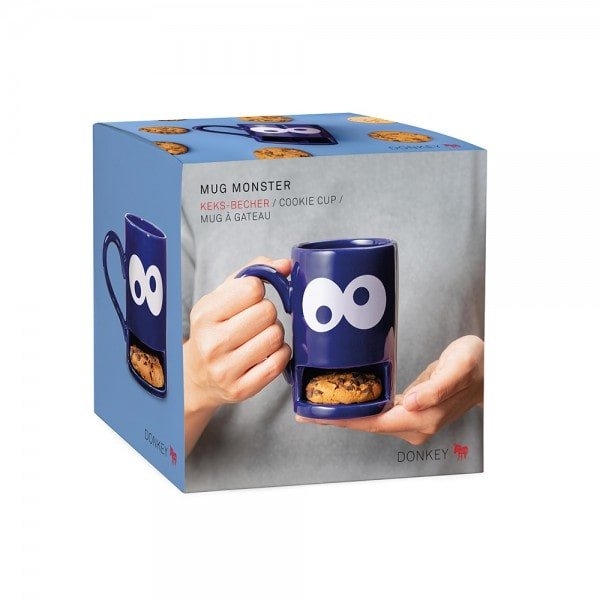 Mug Monster blau Keks-Becher Box