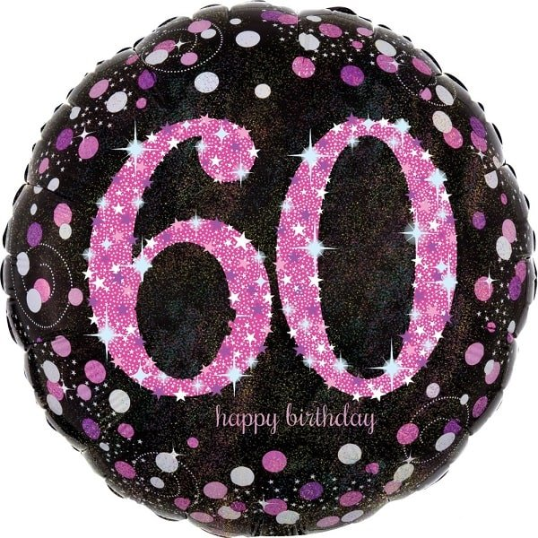 Folienballon Happy Birthday pink 60
