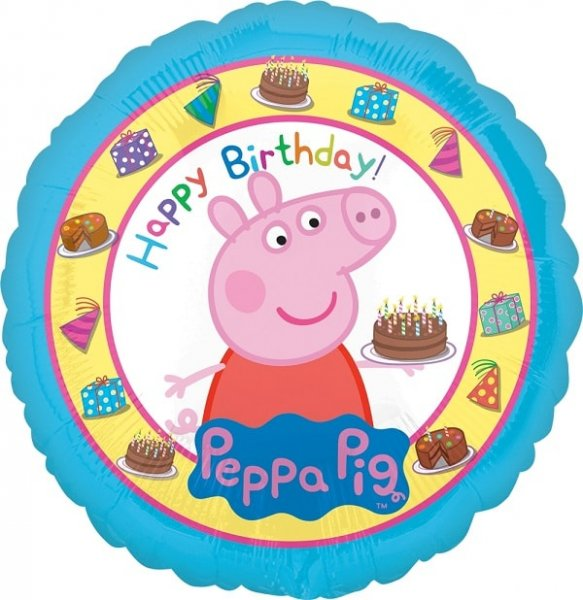 Folienballon Happy Birthday Peppa Pig