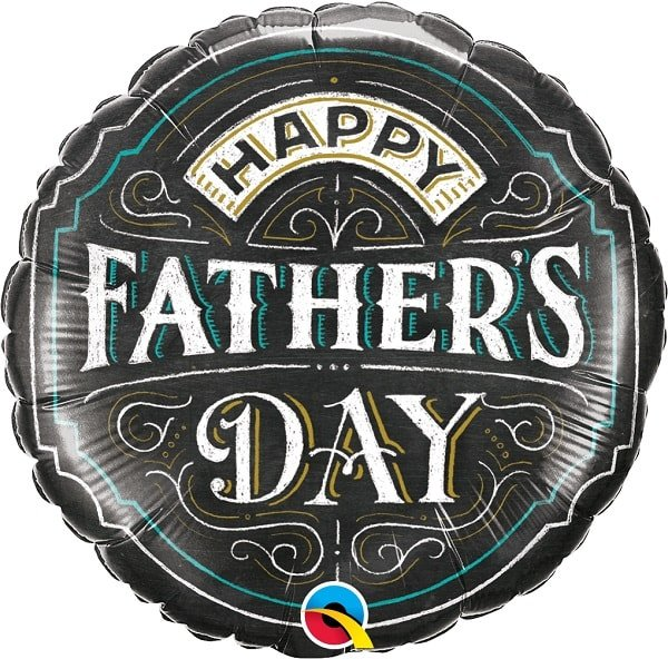 Folienballon Happy Father's Day Chalkboard