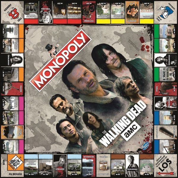 Monopoly The Walking Dead Spielbrett