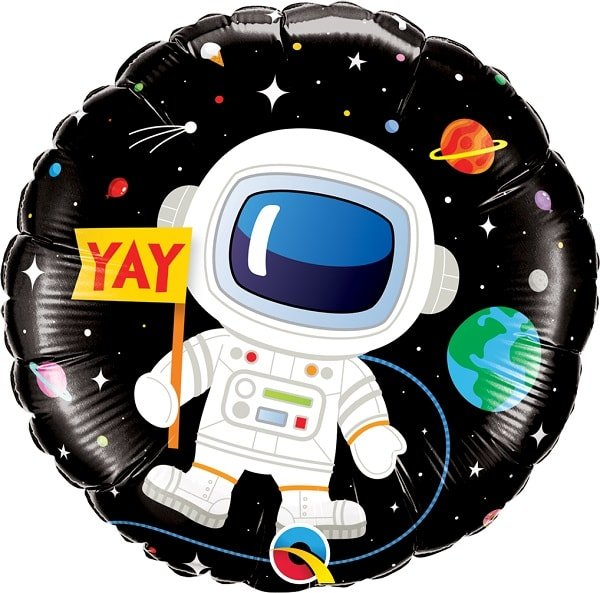 Folienballon - Happy Birthday Astronaut Rückseite