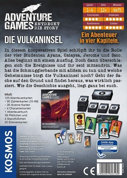 Adventure Games Die Vulkaninsel Rückseite