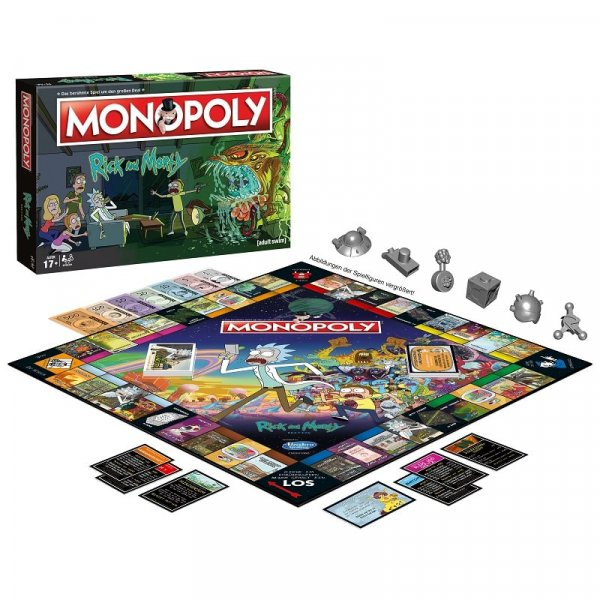 Monopoly Rick and Morty Spielsituation
